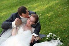 Niedawno zamężna para Obrazy Stock