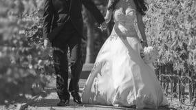 Niedawno zamężny poślubia pary Zdjęcie Royalty Free