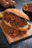 Niedbała Joes wołowiny zmielona kanapka Zdjęcie Stock