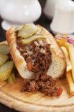 Niedbała Joes wołowiny zmielona kanapka Zdjęcia Royalty Free