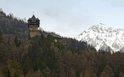 Niederfalkenstein城堡外堡 库存图片