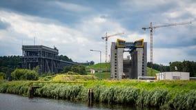 Niederfinow fartygelevator fotografering för bildbyråer