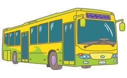 Niederfluriger Stadtbus stock abbildung