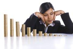 Niedergedrückt über Schlussen Profit avery Monat lizenzfreie stockbilder