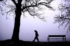 Niedergedrückt im Nebel