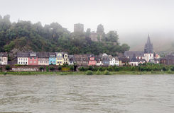 Niederheimbach. In the Unesco World Heritage area of the Rhine Valley Stock Images