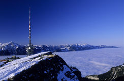 Niederhorn. Antenna on the top of Niederhorn in the Swiss Alps near Thun royalty free stock photography