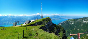 At Niederhorn Mountain. Shot from the Niederhorn mountain in Switzerland, looking south Stock Images