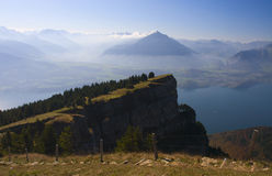 Niederhorn, view on Thunersee Royalty Free Stock Photo