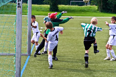 Children of BSC SChwalbach playing soccer Stock Image