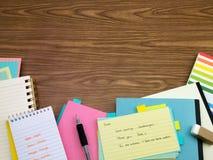 Niederländisch; Lernen von neuen Sprachschreibens-Wörtern auf dem Notizbuch Lizenzfreies Stockfoto