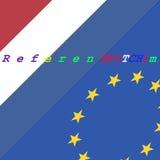 Niederländische Ausgang EU Lizenzfreie Stockbilder