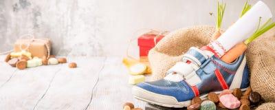 Niederländische Feiertag Sinterklaas-Zusammensetzung Lizenzfreies Stockbild