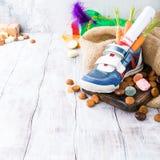 Niederländische Feiertag Sinterklaas-Zusammensetzung Stockfotografie