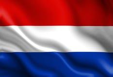 Niederländische Flagge lizenzfreie abbildung