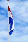 Niederländische Flagge ohne den Wind zum wellenartig zu bewegen Lizenzfreie Stockbilder