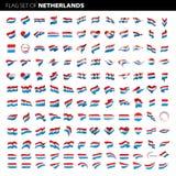 Niederländische Flagge, Vektorillustration Lizenzfreie Stockfotografie