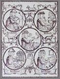 Niederländische Fliese von der 16. zum 18. Jahrhundert Lizenzfreie Stockfotografie