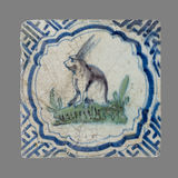 Niederländische Fliese von der 16. zum 18. Jahrhundert Lizenzfreies Stockfoto