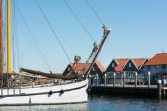 Niederländische Insel Texel des kleinen Hafens lizenzfreies stockbild