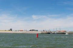 Niederländische Insel Texel des kleinen Hafens stockfotografie