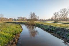 Niederländische Landschaft in der Wintersaison Stockfotografie