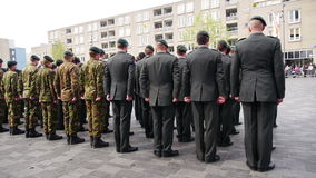 Niederländische Militärparade stock footage