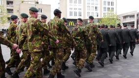 Niederländische Militärparade stock video