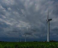 Niederländische Windkraftanlagen Lizenzfreies Stockfoto