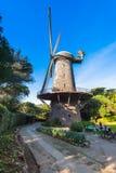 Niederländische Windmühle - Golden Gate Park, San Francisco Stockfotos