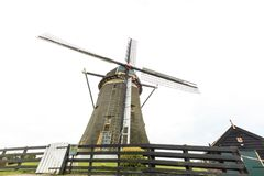 Niederländische Windmühle, Leidschendam nahe Den Haag Lizenzfreie Stockbilder
