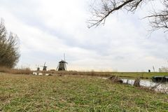 Niederländische Windmühle, Leidschendam nahe Den Haag stockfotos