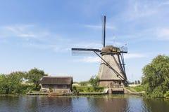 Niederländische Windmühle und die wenig verschütteten Lizenzfreies Stockbild