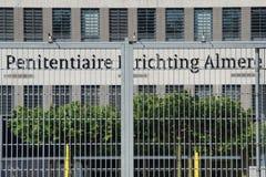 Niederländischer Gefängniseingang - Penitiaire Inrichting Almere (PUs) Lizenzfreies Stockfoto
