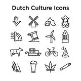 Niederländischer Kultur-Ikonen-Vektor-Satz ENV Stockfotos