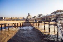 Niederländischer Pier u. x28; Den Haag - Nord-sea& x29; Stockfotografie