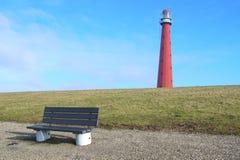 Niederländischer roter Leuchtturm Stockbild