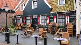 Niederländisches Amsterdam-Café ist auch eine große Zusammensetzung Lizenzfreies Stockfoto