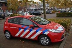 Niederländisches Feuerkampffahrzeug - geparkt Stockfoto