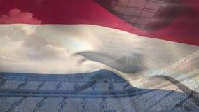 Niederländisches Flaggenvideo stock abbildung
