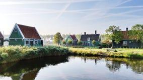 Niederländisches Haus in Zaanse Schans, die Niederlande stockbild