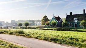 Niederländisches Haus in Zaanse Schans, die Niederlande stockfoto