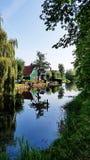 Niederländisches Haus in Zaanse Schans, die Niederlande lizenzfreies stockbild