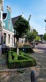 Niederländisches Haus in Zaanse Schans, die Niederlande stockbilder