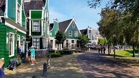 Niederländisches Haus in Zaanse Schans, die Niederlande lizenzfreie stockfotografie
