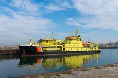 Niederländisches Küstenwachschiff Stockfotografie