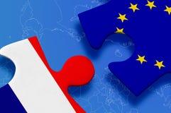 Niederländisches Puzzlespiel der Europäischen Gemeinschaft Stockbilder