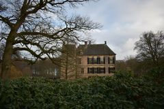 Niederländisches Schloss Vorden lizenzfreies stockbild