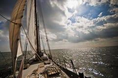 Niederländisches Segelboot Lizenzfreies Stockfoto