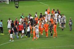 Niederländisches Team feiern Stockbild